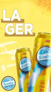 Lager 473ml Komblue